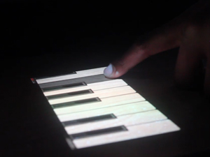 Digitally Projected Piano