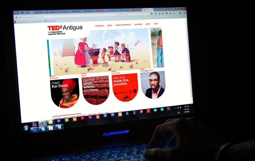 TEDxAntigua logo desktop responsive website